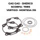 Kit o-rings head and top end gaskets